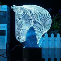 3D LED svetilka v obliki konjske glave