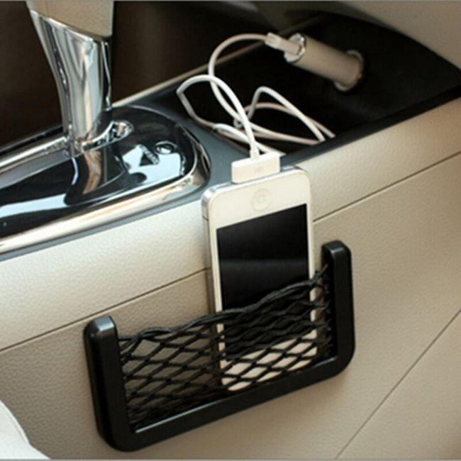 Наклеивающийся карман-сетка для автомобиля 1