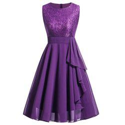 Sukienka damska vintage z koronką - 4 kolory