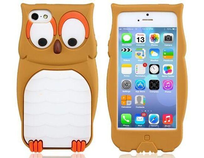 Zadní kryt na iPhone 5S/5 s motivem sovy - 3 barvy 1
