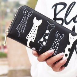 Dámská peněženka s kočkami - 6 barev