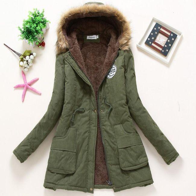 Dámská zimní bunda Jane - Vojenská zelená-velikost č. M 1