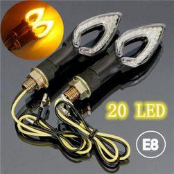 Semnalizatoare LED cu 20 de diode pentru motocicletă