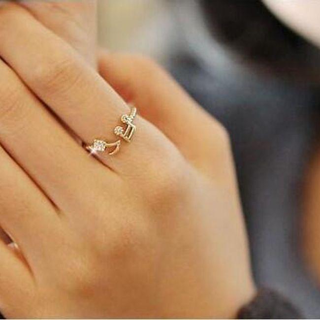 Ženski prstan - note 1