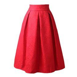 Krótka spódniczka z delikatnym kwiatowym wzorem - różne kolory