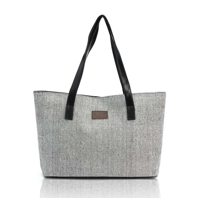 Modna platnena torba čez ramo - različnih barv 1