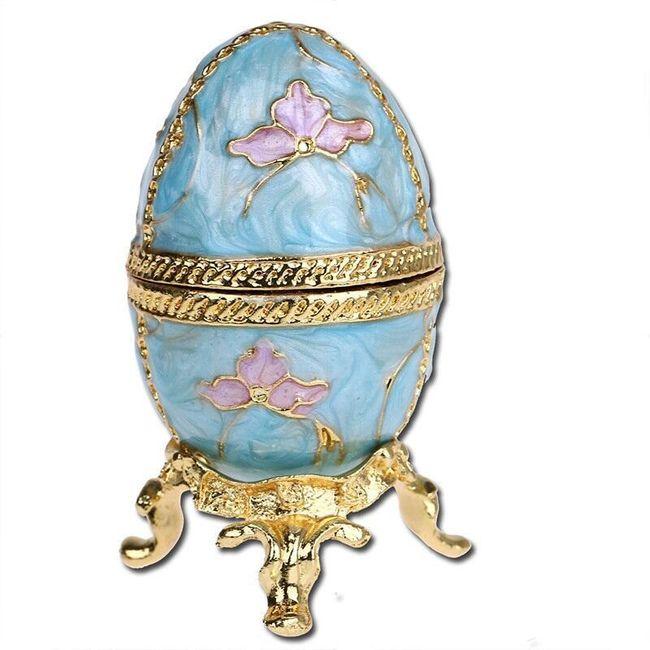 Šperkovnice tvaru vejce v ruském stylu 1