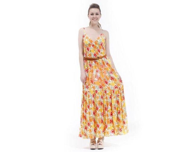 Dámské letní šaty se zajímavým barevným vzorem - vel. L 1