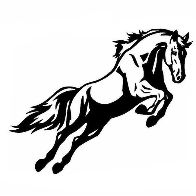Stenska nalepka - konj v skoku 1