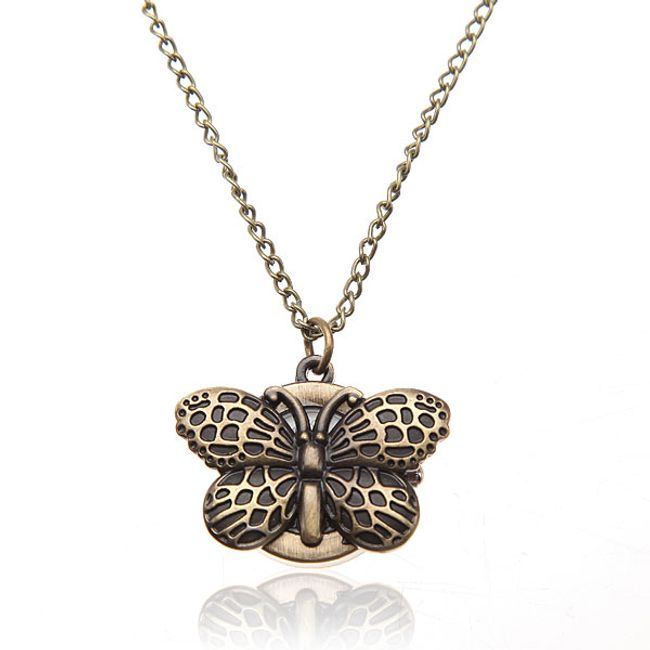 Hodinky na řetízku s motýlkem 1
