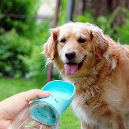 Dizájnos utazási kutya vizes palack - 3 szín