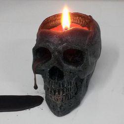 Svíčka lebka - černá