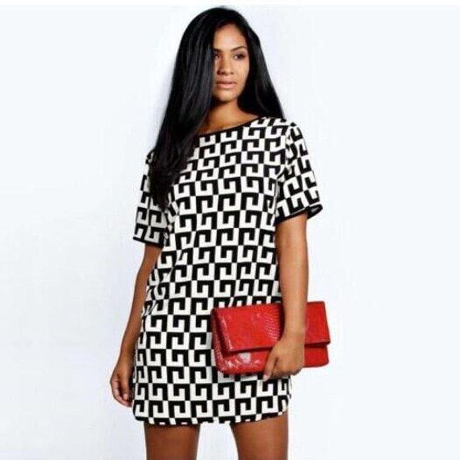 Černobílé šaty - 3 1