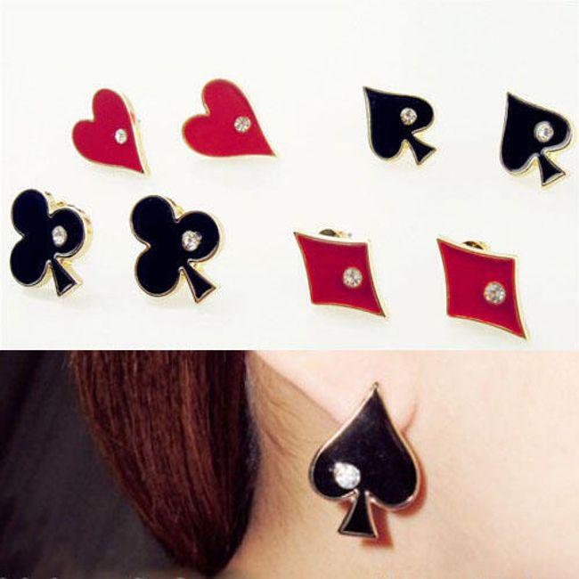 Fülbevaló - A játék kártyák szimbóluma 1
