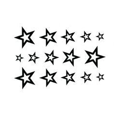 Dočasné tetování 10.5 x 6 cm - hvězdičky