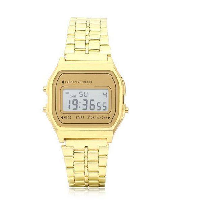 Digitalna retro ura v zlati ali srebrni barvi 1