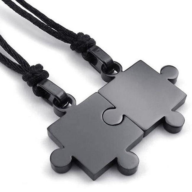 Ogrlica z obeskom za pare ali prijatelje - 2 kos 1