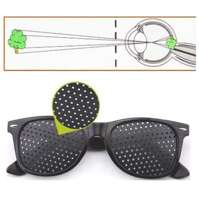 Okulary dziurkowanie do wzmocnienia wzroku i relaksacji oczu 1