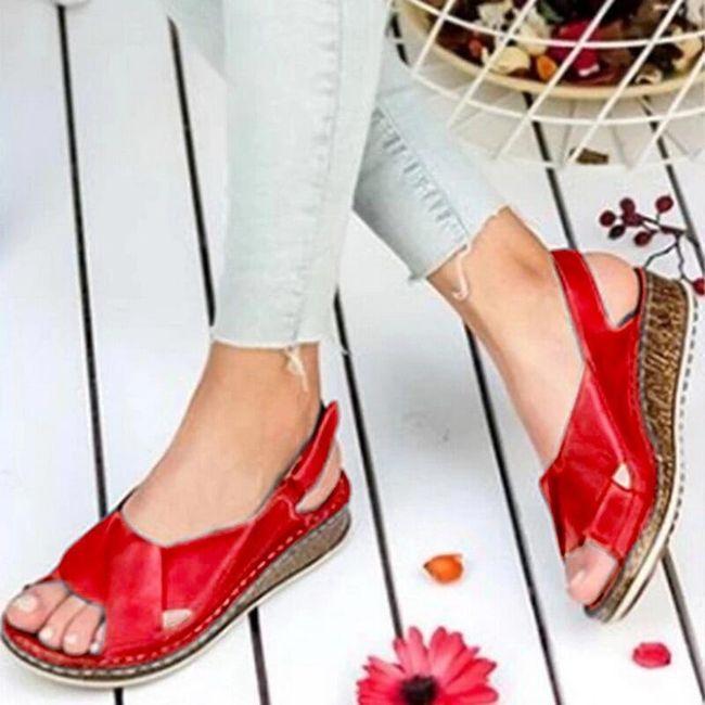 Damskie sandały na koturnie Yella 1