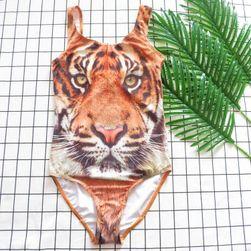 Dívčí plavky - motiv tygra