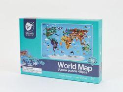 Puzzle Mapa Světa 38x57cm 48 dílků v krabici 30x21x4cm RM_00512088