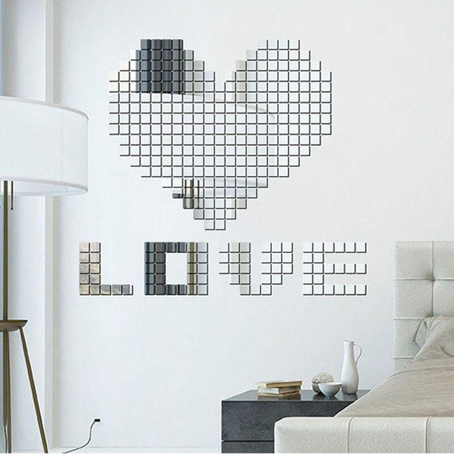 Autocolant pentru perete - mozaic din cuburi 1