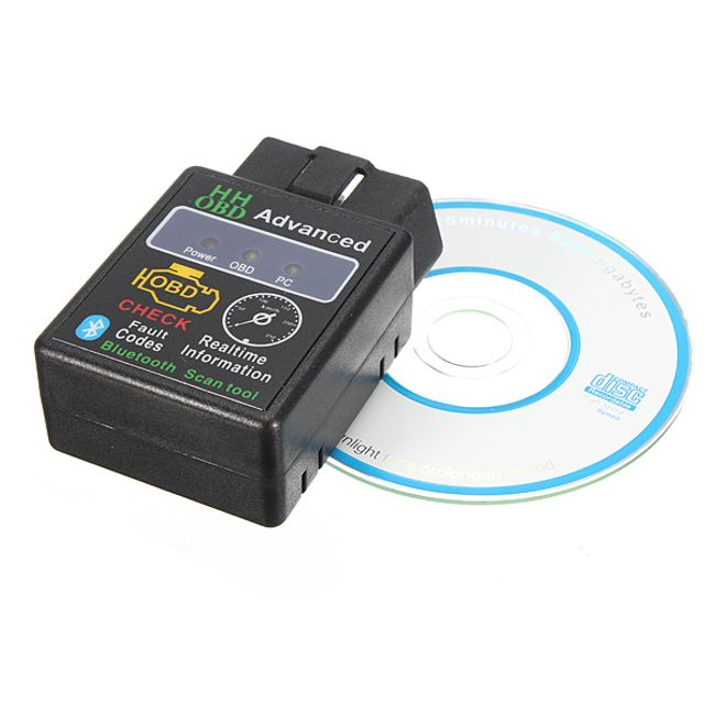 Bluetooth araç diagnostiği HHOBD ELM327 1