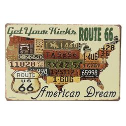 Limeni poster - Route 66 - American dream