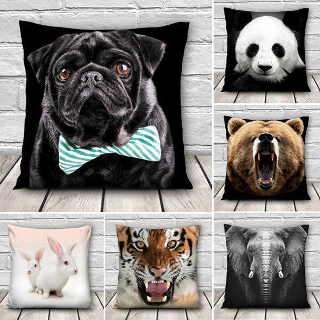 3D чехол на подушку с изображением животных 1