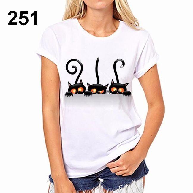 Dámské tričko s motivy kočiček - 251, velikost 6 1