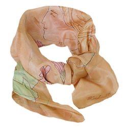 Hedvábný malovaný šátek Belle Epoque
