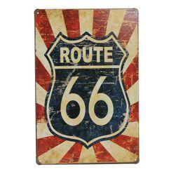 Afiș metalic Route 66