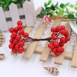 Dekorativní ozdoby v podobě jeřabin - 25 kusů v sadě