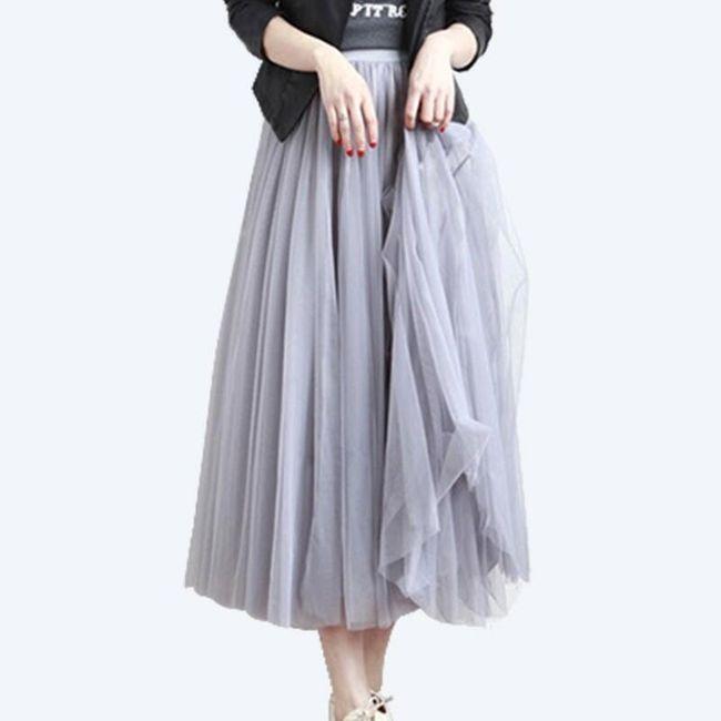 Dlouhá tylová maxi sukně 1