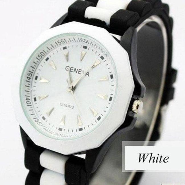 Kolorowy silikonowy zegarek GENEVA - oferujemy sześć kolorów 1