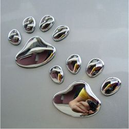 Samolepky na auto ve tvaru psích tlapek