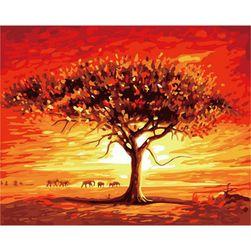 Slikanje po brojevima - drvo u savani