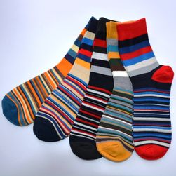 Pánské ponožky pruhované - 5 párů