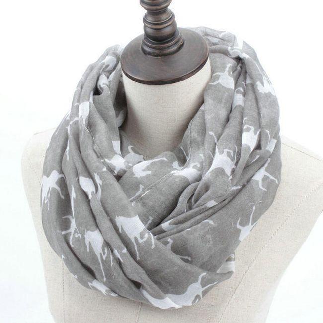 Dámský šátek s koníky - 7 barev 1
