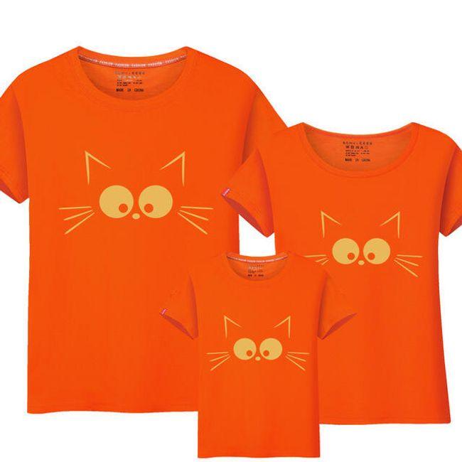 Póló macskával anya  apa és gyermekek számára