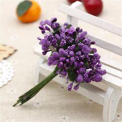Floare decorativă - 12 buc - culoare violet