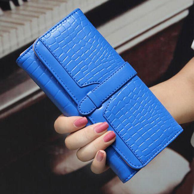 Dámská elegantní peněženka s raženým vzorem v různých barvách 1