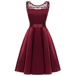 Dámské vintage šaty s krajkou - 2 barvy
