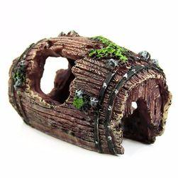 Dekoracija za akvarijum - drveno bure