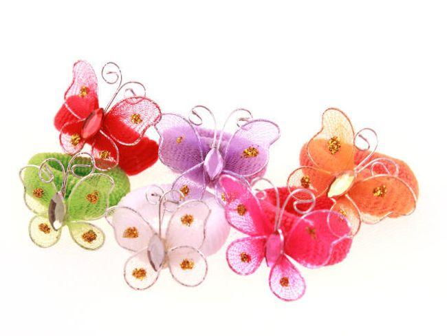 Elastice de păr decorate cu fluturi 1