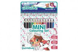 Mini set blok s omaľovánkami s 12 pastelkami Enchantimals 11x15cm RM_91019679