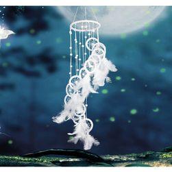 Lapač snů v bílé barvě - 11 cm