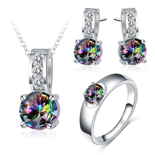 Set nakita sa kamenčićima ukrašenim motivima duge 1