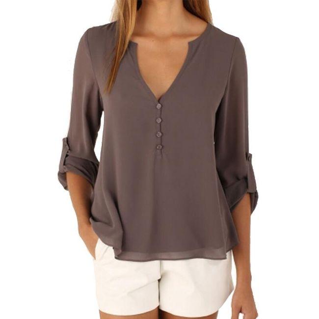 Ženska bluza z velikim izrezom različnih barv 1