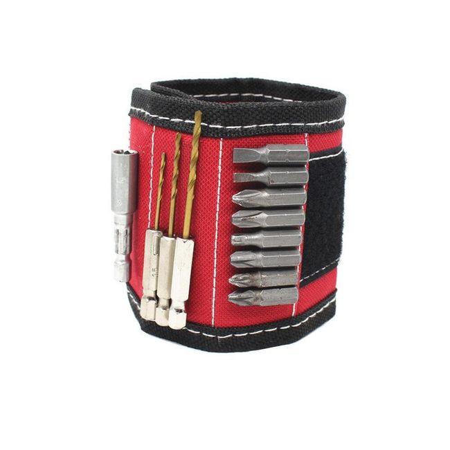 Magnetický náramek pro opraváře - červený 1